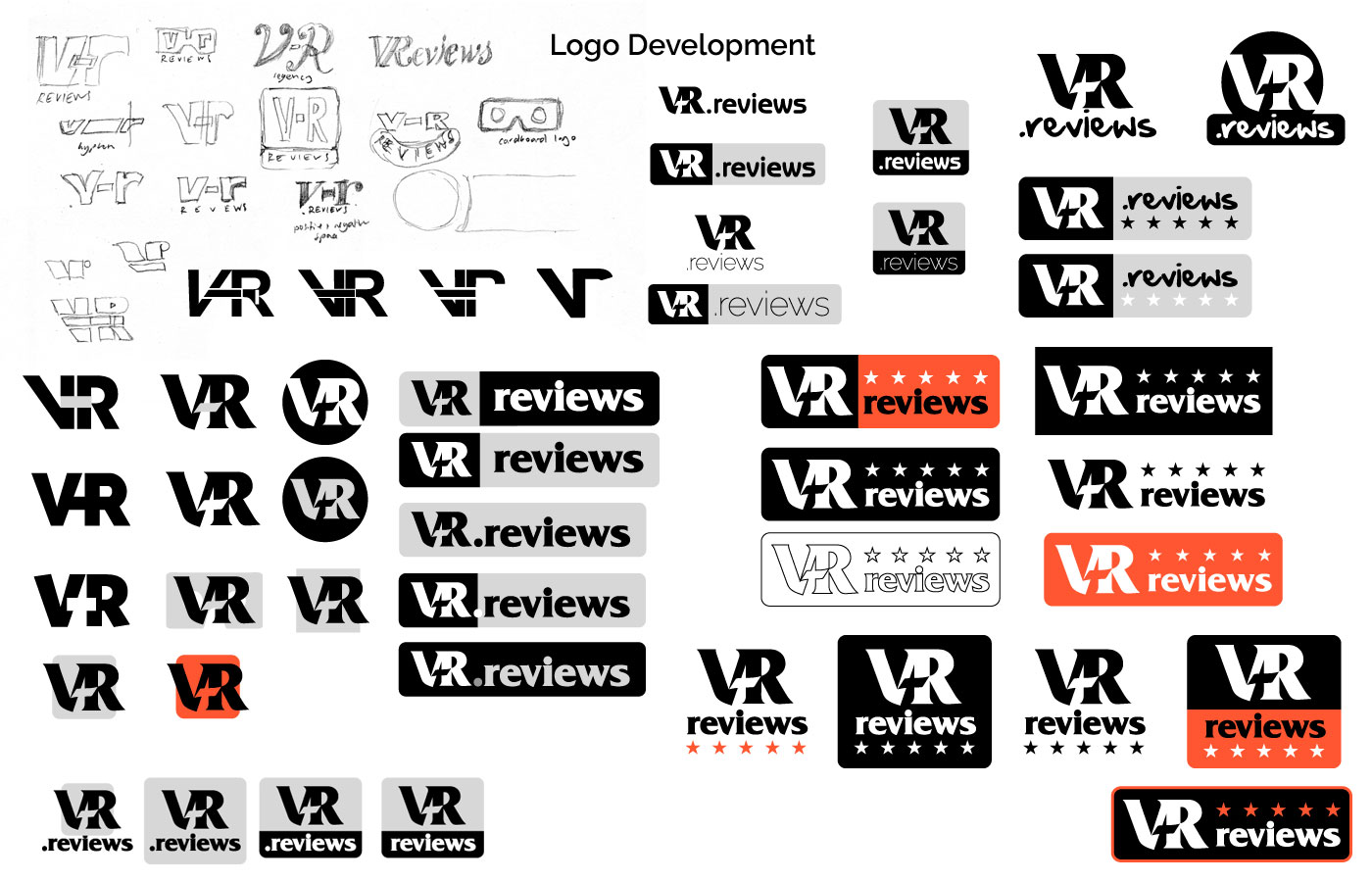 v-r reviews - logo development
